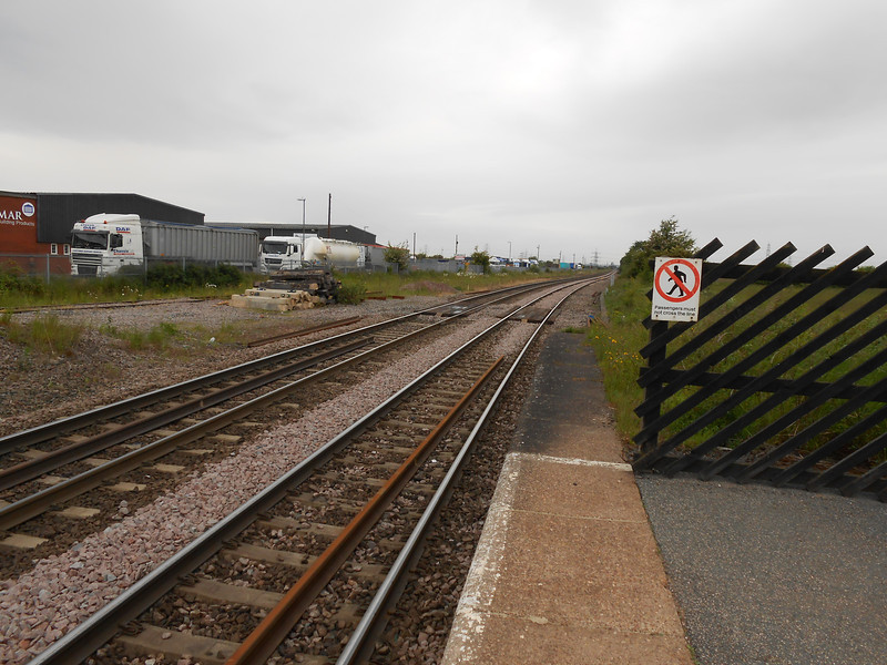 pic by Liz <br /> <br /> Shot looking towards Knottingley showing the large lorry park on the <br /> <br /> left / part of the Industrial estate