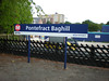 picture by Liz:<br /> <br /> Pontefract Baghill <br /> <br /> Address:<br /> <br /> Pontefract Baghill Railway Station.<br /> <br /> Station Lane<br /> <br /> Pontefract<br /> <br /> West Yorkshire<br /> <br /> WF8 1RB <br /> <br /> Location Between Moorthorpe & Church Fenton <br /> <br /> Northern Rail Timetable: # 34<br /> <br /> How to find it: <br /> <br /> Directions from Pontefract Monkhill:<br /> <br /> Come into car -park you see a lane going off to the Left follow that <br /> <br /> go down the steps turn right into Mill Dam Lane follow the road right <br /> <br /> to the Bottom till you get to a small Industral unit on your right and a <br /> <br /> derelict pub on the left on the corner. turn Left past the pub keep <br /> <br /> walking to the bottom of that road North Bailey Gate passed a <br /> <br /> Ruined Church on your Left once at the Jct Turn right onto South <br /> <br /> Bailey Gate walk past the Engineering firm you should see a sign to <br /> <br /> Baghill take next Left walk up the road till just before you get to the <br /> <br /> Railway bridge in front then turn right and walk down the road with <br /> <br /> the railway on your Left & Baghill is at the end of that Road