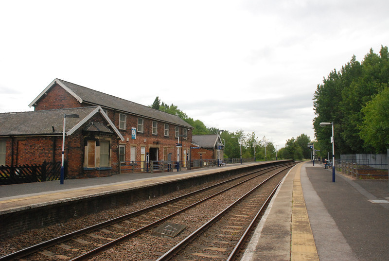 Shot of the station Buildings looking towards York from the Sheffield bound Platform