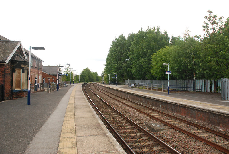 Pontefract Baghill looking towards York from the York bound platform
