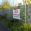 Pic by Liz <br /> <br /> The sign on the fence in the huge Car - park