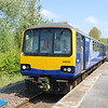 144 012 <br /> <br /> sits in the platform at Kirton Lindsey