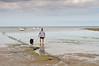 Man & Dog have a Paddle - Robin Hood's Bay - Beach