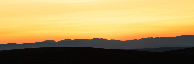 Sunset from Keasden Moor above Gisburn Forest