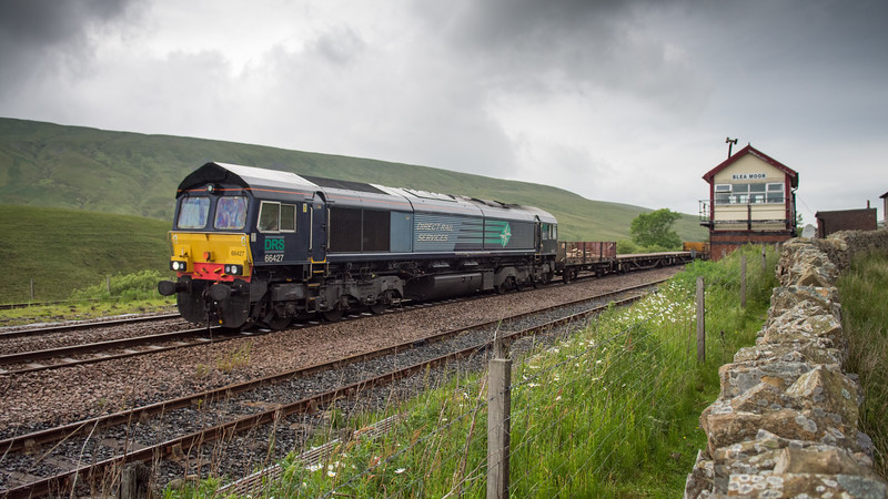 Train passing Blea Moor