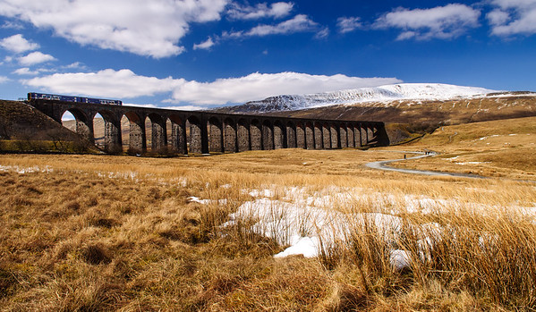 Northern Rail train on Ribblehead Viaduct
