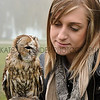 CSL 12 Eliza Mallender from York enjoys meeting a tawny owl.