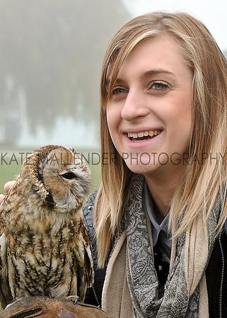 CSL 12 Eliza Mallender from York enjoys meeting a tawny owl.