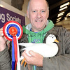 CSL 12 Graham Hodge from Chorley with his prize winning female White Call Duck