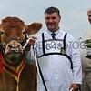 GYS 14 Supreme Beef L-R S Dougie McBeath stockman and owner Doug Mash with Brockhurst Bolshoi