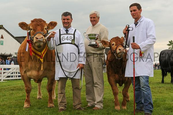 GYS 14 Supreme Beef L-R Dougie McBeath, owner Doug Mash and Ben Bellew with Brockhurst Bolshoi