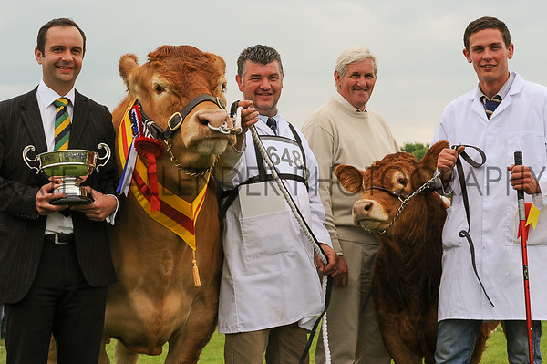 GYS 14 Supreme Beef L-R Stuart Menzies from Asda with Dougie McBeath, owner Doug Mash and Ben Bellew with Brockhurst Bolshoi