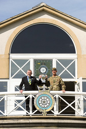 GYS 14 Nigel Morgan presents Pte Matthew Gilmartin with the Best Soldier of the Yorks Regiment