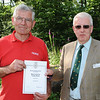 GYS 14 David Carter RFS presents Richard Slatem with the Best Forestry Stand award