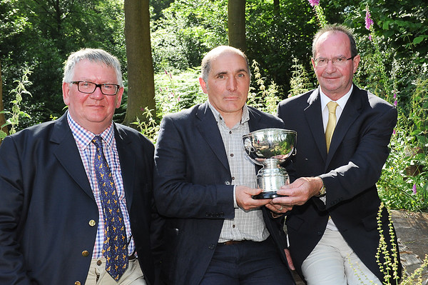 GYS 14 Winner of the John Boddy trophy Shaun Purkiss-McEndoo from Richmond presented by Andy Lodowski of John Boddy Timber with Frank Boddy (far left)