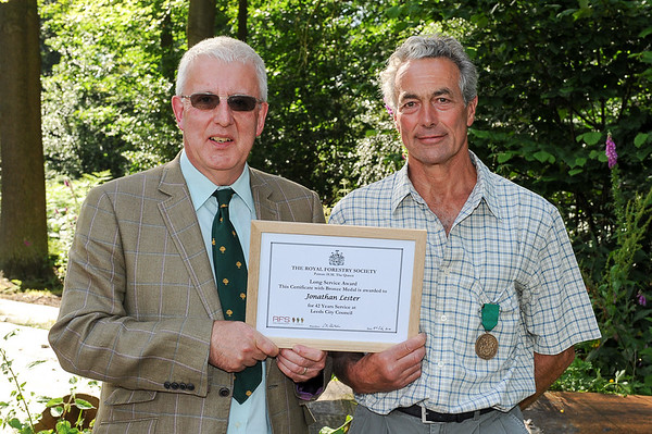 GYS 14 David Carter RFS presents Jonathan Lester from Otley with his Long Service Award