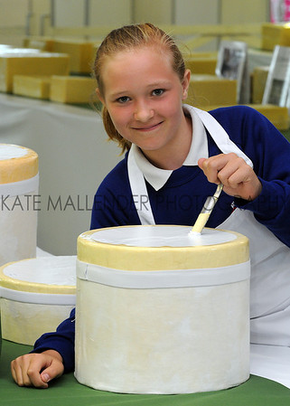 GYS 2012 11 year old Bethany Kitchen from Athelstan Community Primary School judging cheese classes.