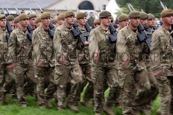 Great Yorkshire Show 2012: the Yorkshire regiment in the main ring.<br /> pic: Doug Jackson