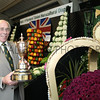 gys 2012 Tuesday: NFU win the Doncaster cup again! Pictured in front of the display is Chair of the NFU's Yorkshire Show group Graham Ward OBE.<br /> pic: Doug Jackson