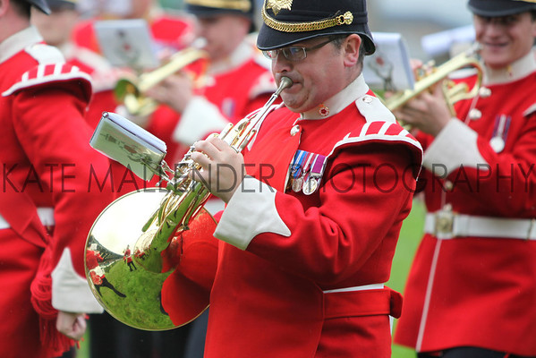 gys 2012 Tuesday: Yorkshire regiment's 1st battalion and the regimental band in the main arena. Various shots of VIP, Mayor<br /> pic: Doug Jackson