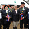 GYS 2012 Cattle Stewards clock up 216 years service Harold Brown, Michael Warren, David Sherry & George Westgarth presented by Margaret Chapman (centre)