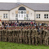 Great Yorkshire Show 2012: 1st battalion Yorkshire Regiment parade in the main ring.<br /> pic: Doug Jackson