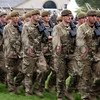 Great Yorkshire Show 2012: 1st battalion Yorkshire regiment drill in the main arena.<br /> pic: Doug Jackson