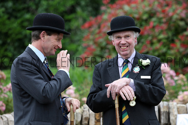 gys 2012 Tuesday: Bill Cowling and Nigel Pulling chat at the dedication of the bench to Richard Howard-Vyse.<br /> pic: Doug Jackson