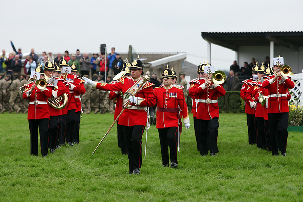 Great Yorkshire Show 2012: the Yorkshire regimental band in the main ring.<br /> pic: Doug Jackson