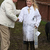 GYS 2012 Wednesday:The pig judging continues as the young handlers control thier pigs.<br /> pic: doug jackson