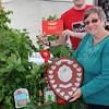 GYS 2012 Garden Show veg box winner Gillshill Primary School, HUll presented by Luke Tilley from Stockbridge & Christine Walkden