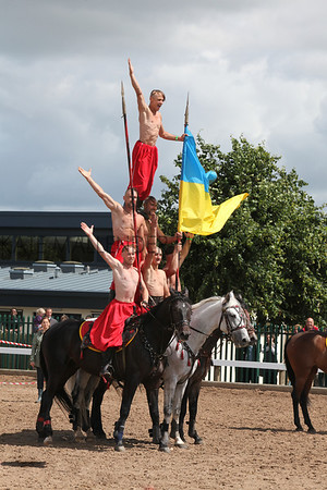 gys 2012 Wednesday: Despite the show being officially closed. The Cossacks put on a show for the remaining exhibitors.<br /> pic: Doug Jackson