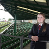 GYS 2012 Wednesday: Security steward Lorna Murphy stand in an empty main area...<br /> pic: doug jackson