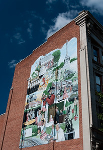 Mural Depicting 250 Years of History in York City, PA