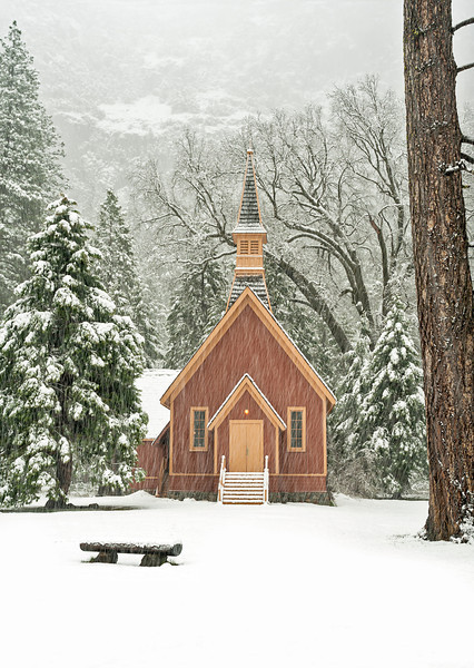 Yosemite Chapel, Yosemite National Park, CA