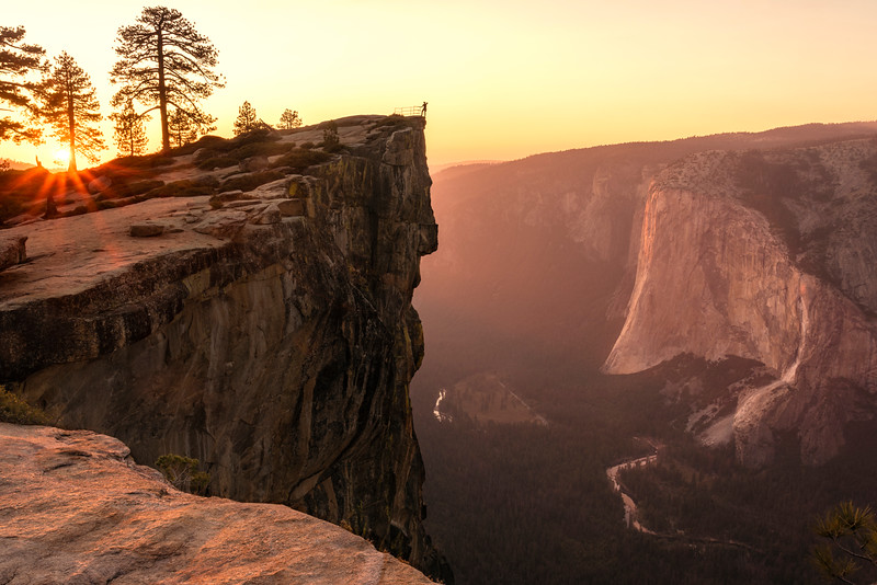 Sunset from Taft Point, Yosemite National Park