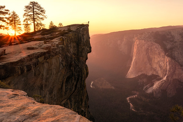 Sunset from Taft Point, Yosemite National Park