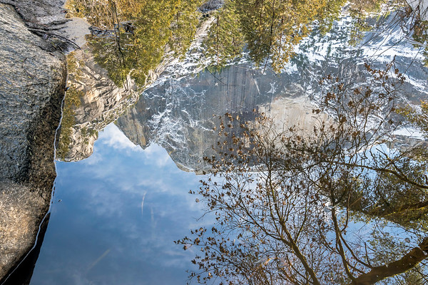 Half Dome Reflection, Tenaya Creek, Yosemite National Park, CA