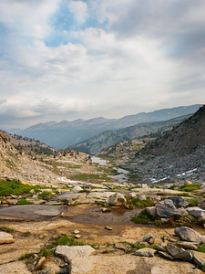 Changeable weather in the high Sierra