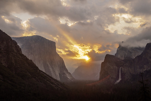 Tunnel View, El Capitan, Bridalveil Fall