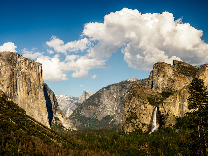 Tunnel View, El Capitan, Bridalveil Fall