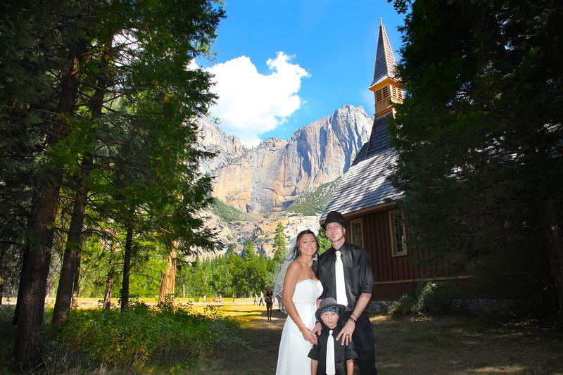 Yosemite chapel wedding