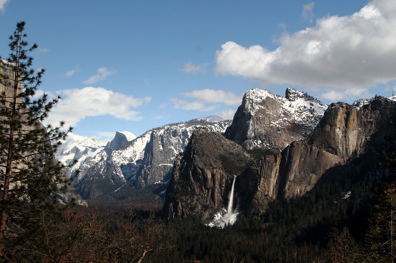 Halfdome and Bridal Vial Falls
