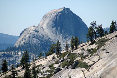 Using my 200mm telephoto lens, I looked at Half Dome.  What an incredible view!  Being terrified of great heights, I'll never get up there, but maybe Kimberly will someday.  Kim's Aunt Cindy sat on the very edge at the top, her feet dangling down to the valley floor below.  Crazy!