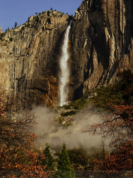 Morning light on Upper Yosemite Fall