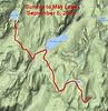 Sunrise HSC to May Lake HSC (toughest hike)