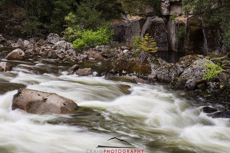 Merced River rapids Yosemite California