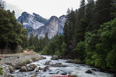 Merced River at Yosemite Time-exposure lights 1