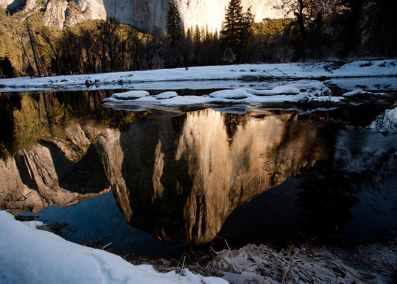 Morning Reflection of El Capitan - Yosemite National Park, California - Sid Gauby - February 2013