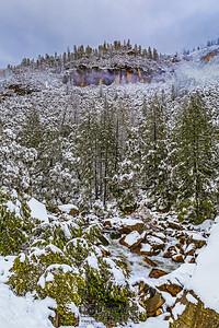 """Wild Winter,"" Merced River and the Granite Cliffs of Yosemite in the Winter, Yosemite National Park, California"